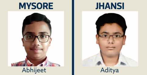 Abhijeet and Aditya IIT Gurukulam Students