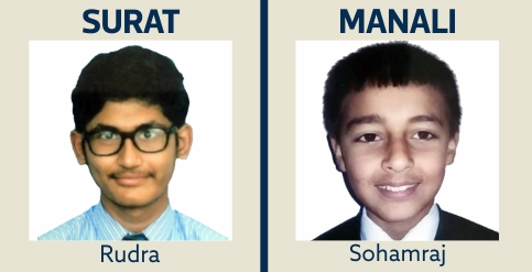 Rudra and Sohamraj IIT Gurukulam Students